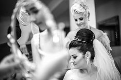 Bride and goodmother getting ready