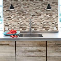 Smart Tiles 9.125 in. x 10.25 in. Multi Color Peel and Stick Muretto Durango Mosaic Decorative Wall Tile-SM1053-1 at The Home Depot