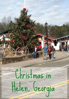 All about the Christmas festivities in Helen, Georgia!!