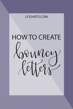 Some of you have started to notice a trend in calligraphy that is not always discussed at a beginner level. And that is the bouncing letters. Many calligraphers train their students to write all le…