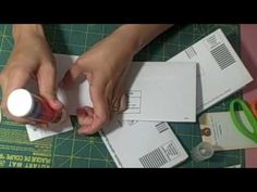 Junk mail flip envelope mini album video tutorial. Good video, I will be wanting to make one of these