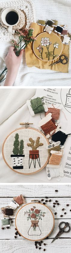 Hoop art and PDF embroidery patterns by Muted Rose Embroidery