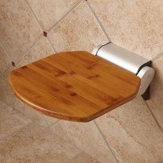Solid Bamboo Folding Shower Seat