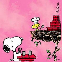 Summer B•B•Q.   --Peanuts Gang/Snoopy & Woodstock