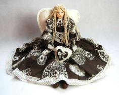 Kontakt/Contact: mail: danutaewa13@o2.pl Rękodzieło artystyczne anioły Angels lalki szmaciane lniane z materiałów naturalnych vintage szyte ręczni