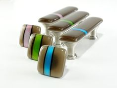 Fused Glass Cabinet Knobs and Pulls2