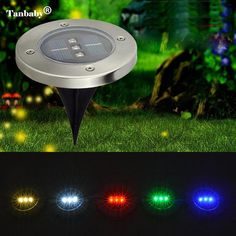 tanbaby waterproof solar powered 3 led lawn light lamp outdoor garden patio pond pool lawn deco