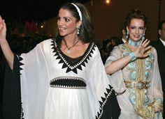 Queen Rania of Jordan and Princess Lalla Salma of Morocco