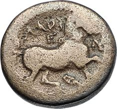 LARISSA Thessaly 350BC Authentic Ancient Greek Coin FACING NYMPH & HORSE i68840