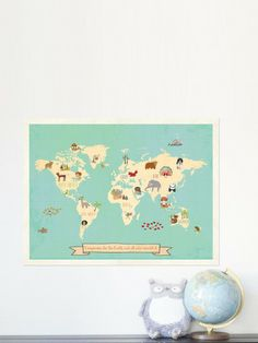 Global Compassion Map by Children Inspire Design on Gilt.com - got it!  Love the colors and while we don't have a place to put it now, someday we'll have a play room!