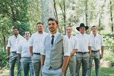 I like the casual look a lot, but if anyone wears a cowboy hat in my wedding I will kill him.