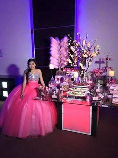 mesa de dulces xv años candy bar xv años
