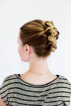 Lovely Tucked Braid Updo- if i can make this, that'll be the day!