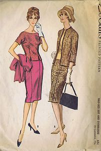 """VINTAGE SUIT OVER BLOUSE SEWING PATTERN MCCALL'S 5154 SZ 14.5 BUST 35 HIP 39"""" CUT 