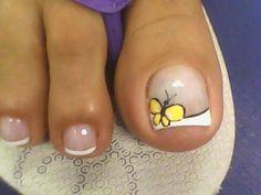Gel Toe Nails, Cute Toe Nails, Feet Nails, Pedicure Nails, Fancy Nails, Toe Nail Art, Nail Art Diy, Diy Nails, Toenails