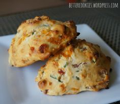 Cheesy Bacon and Chives Biscuits