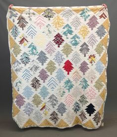 Up Cycled Men/'s Shirt Fabric Quilt 46x48 Picnic Quilt Flying Geese Quilt Throw