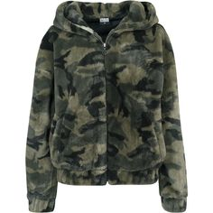 Cuddly soft teddy with the trendy camouflage look. Light Jacket, Rain Jacket, Bomber Jacket, Camoflauge Jacket, Lady, Urban Classics, Christian Lacroix, Guess Jeans, Urban Fashion
