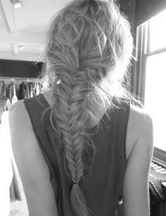 Messy Fish Tail Braid - A must for any road trip.