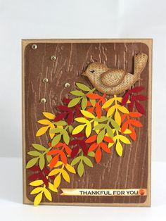 Thanksgiving Handmade Card Autumn Handmade Card by CardamomsArt