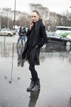 model off duty all black