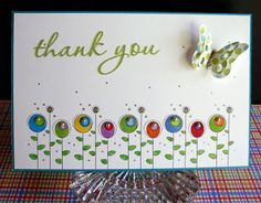 Thank you flowers Thank You Flowers, Make Blog, Scrapbook Cards, Scrapbooking, Butterfly Cards, Little Gifts, Making Ideas, Cardmaking, Stamp
