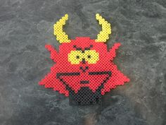 Perler bead Satan Face from South Park by rushtalion on deviantart