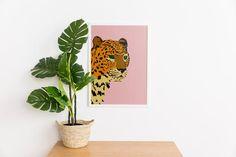 Printable Leopard Art Print Modern Animal Graphic Art | Etsy