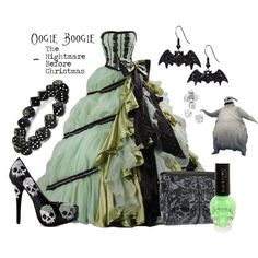 """""""Oogie Boogie - The Nightmare Before Christmas (Ballgown)"""" by snakeinmyboots on Polyvore"""
