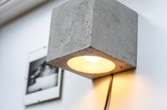 wall lamp dimmer concrete Q#68 handmade. plug in wall lamp. sconce. wall light. concrete lamp. loft. minimalist light. wall lamp. concrete by dtchss on Etsy https://www.etsy.com/listing/273503114/wall-lamp-dimmer-concrete-q68-handmade