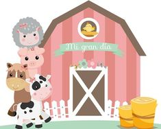 Banner Animals of the Farm My big day. - Banner Farm Animals Baby Banner Farm Animals Baby Banner Farm Animals Baby Welcome to our website, - Cowgirl Birthday, Farm Birthday, Third Birthday, Pig Party, Farm Party, Baby Banners, Farm Crafts, Farm Theme, Fiesta Party