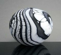 ceramic clay egg sculpture B by peter layton