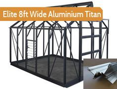 """8ft4"""" wide in multiple lengths. Premium greenhouse. Elite's top of the range premium greenhouse. Elite's Core-Vect technology creates a much thicker framework than any product Elite have made before, and more aluminium content than the leading comepetitors."""