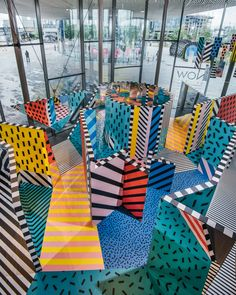 Called Walala x Play, the installation occupies the main exhibition area of Now Gallery, which is located on the the Allies and Morrison-masterplanned Greenwich Peninsula development.