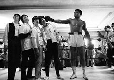 Cassius Clay (Mohhamad Ali) and The Beatles!