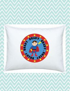 Superhero Pillowcase Personalized for Kids, #funkymonkeythreads, #FMT