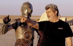 """""""Voglio produrre storie che avrei voluto vedere io da bambino, quando correvo per andare al cinema e magari arrivavo che era già cominciato: immagini che non hanno niente di troppo reale, che risuonano nel cervello e nell'animo senza annoiare o preoccupare, che si ispirano alla bellezza e alla felicità."""" - Buon compleanno a George Lucas, il papà della saga Star Wars, nato il 14 maggio 1944."""