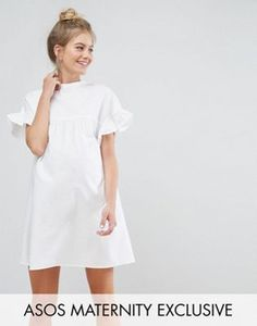 Discover the latest maternity and pregnancy clothing with ASOS. Shop for maternity dresses, maternity tops, maternity lingerie & maternity going-out clothes. White Maternity Dresses, Asos Maternity, Maternity Tops, Maternity Fashion, Maternity Clothing, Smocked Dresses, Women's Dresses, Latest Fashion Clothes, Curvy Fashion
