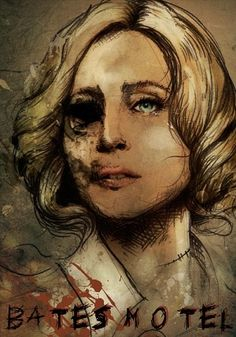 """What a killer fan art! Bates Motel Cast, Bates Motel Tv Show, Horror Films, Horror Art, Max Theriot, Norma Bates, Borderlands Art, Horror Photography, Freddie Highmore"