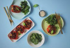Prøv denne lækre opskrift på fyldte og sunde peberfrugter, der både kan bruges som hovedret og tilbehør på en hyggelig grillaften