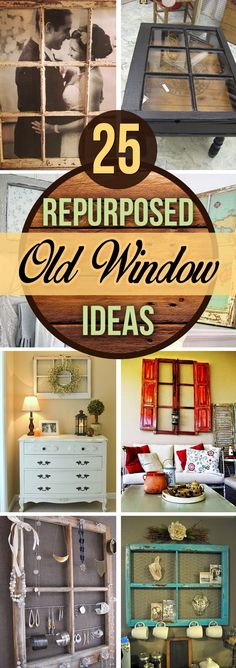 Back in the 1970s, the idea of decorating with old window frames was pretty much limited to hanging a stained glass panel from chains in front of a window. Today, many do-it-yourself decorators are adding interest to new houses that have few appointments with repurposed old window ideas for...