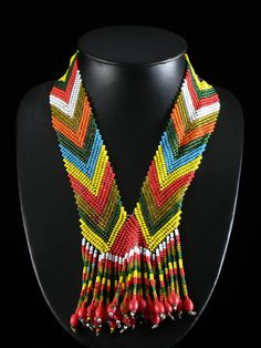 Africa | Necklace from the Oromo peoples of Ethiopia | Glass beads and fiber | ca. 1970s.