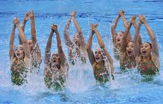 Synchronized Swimming: Team Free Final - Synch. Swimming Slideshows (Photo: TOBY MELVILLE / Reuters) #NBCOlympics