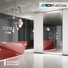 front door with painted glass, red door, glamour style, glamour silver lamp Silver Lamp, Glamour Beauty, Entrance Doors, Glass Door, Salons, Windows, Luxury, Furniture, Design