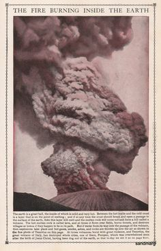 Vintage Mount Vesuvius Erupting to Frame by sandmarg on Etsy