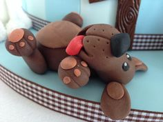 Fondant dog                                                                                                                                                                                 More #DogCake