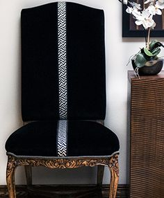 Use trim to accentuate upholstery.