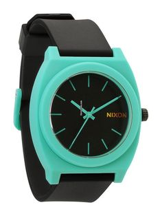 Nixon Time Teller P A-119-1060 Black Teal $103 #watch #watches plastic bracelet
