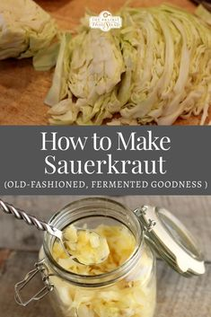 Tips for making homemade sauerkraut: an old-fashioned heritage recipe and classic fermented food #fermentedsauerkraut #homemadesauerkraut Canning Soup Recipes, Pressure Canning Recipes, Easy Canning, Homemade Sauerkraut, Sauerkraut Recipes, Heart Healthy Recipes, Real Food Recipes, Heritage Recipe, Homestead Living