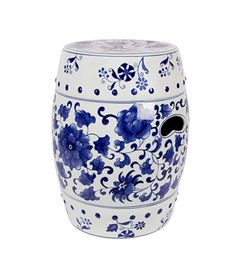 cobistyle blue and white stool - perfect for home or garden
